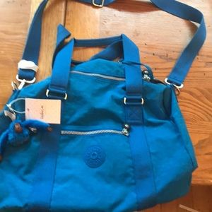 Kipling Small Duffel / Sports Bag Blue Gorilla